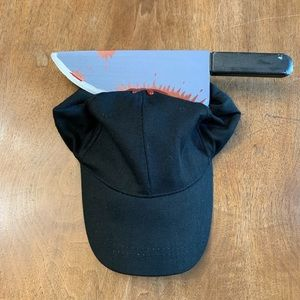 Accessories - Baseball Cap with Bloody Knife in Head